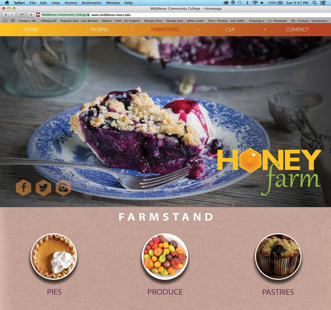 Honey Farm Farmstand page