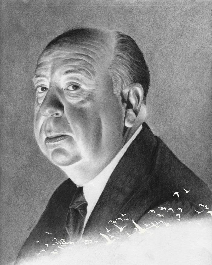 Drawing of Hitchcock