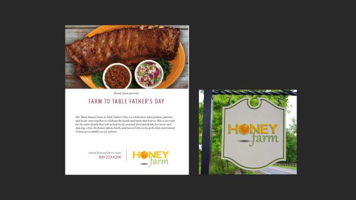 Honey Farms Email template and Logo