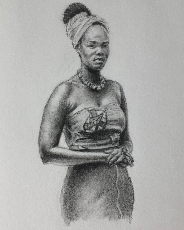 Drawing of African Woman